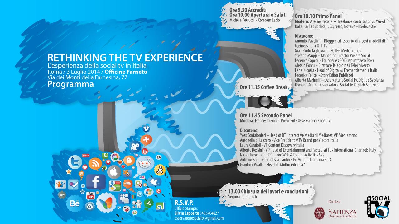 RETHINKING THE TV EXPERIENCE-programma